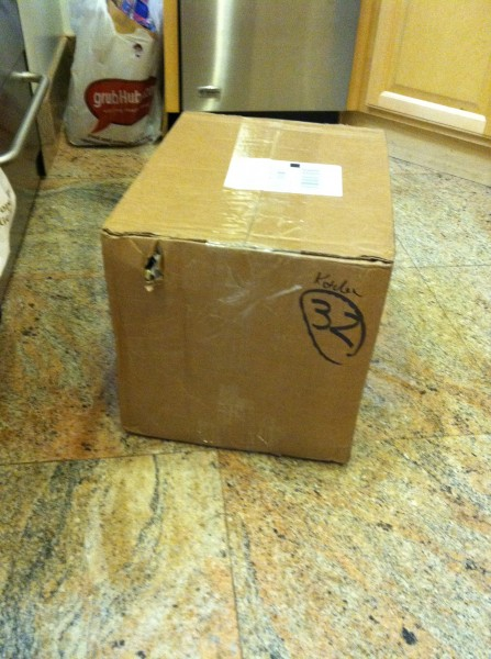 Package on arrival from UPS